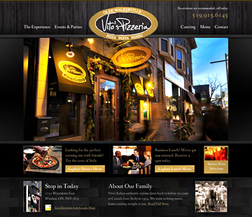 Vito's Pizzeria Website
